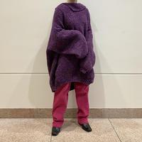 oversized design knit sweater