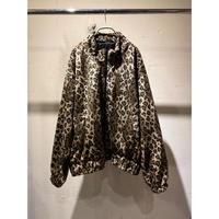 90s zip up fake fur jacket