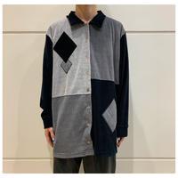 90s fleece swithing design shirt