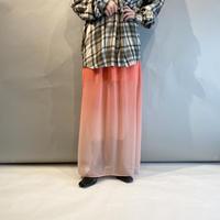 00s see-through long slit skirt