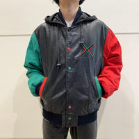 90s~ hooded leather jacket