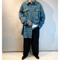 """""""KING SIZE"""" oversized L/S flannel shirt"""
