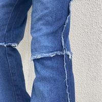 90s~ switching design flare denim pants