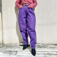 90s~ tapered purple denim pants