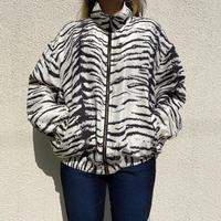 80s〜tiger patterned silk jacket