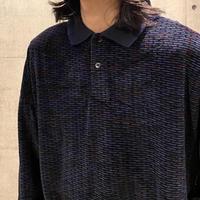 90s velour polo shirt