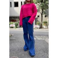 80s vivid pink knit sweater