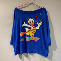 80s〜 Donald Duck design S/S sweat shirt