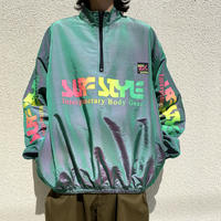 """SURFSTYLE"" half zip shiny jacket"