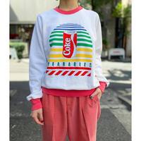 "80s ""Coke Wearables"" printed sweat shirt"