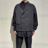 90s striped tailored vest