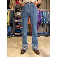 90s〜fringe design flare denim pants