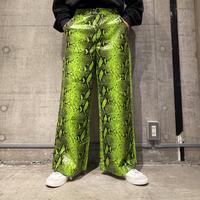 python patterned wide pants