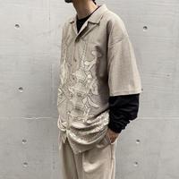 90s〜oversized mesh design shirt