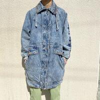 80s~ design denim coat
