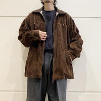 """90s """"DENIM & CO""""  zip up  corduroy shirt"""