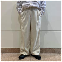 90s silk blend 1tuck wide slacks