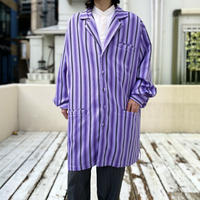 80s〜striped long tailored jacket