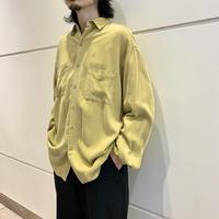 garment dyed L/S rayon shirt