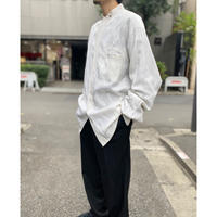 90s rayon blend band collar shirt