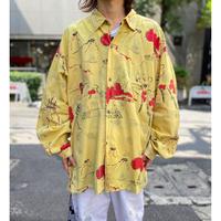 "80s ""CAFÉ"" all pattern L/S shirt"