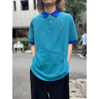 """Polo by Ralph Lauren"" striped polo shirt  (GRN×BLU)"