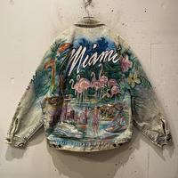 "80s ""Tony Alamo"" painting denim jacket"