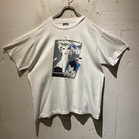 90s art design printed T-shirt