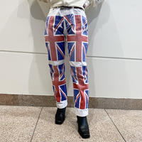 """D&G"" unnion jack printed denim pants"