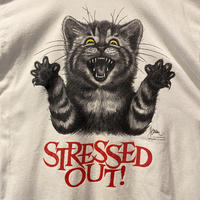 """STRESSED OUT!""  cat print T-shirt"