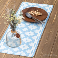 itori Hand-woven / hand-dyed indigo-dyed lips-woven Table runner