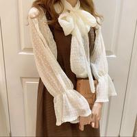 white dot sheer blouse