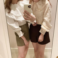 frill big collar blouse