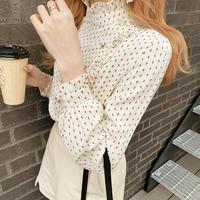 cream dot blouse