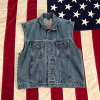 【USED】HARLEY-DAVIDSON DENIM vest ライトインディゴ L