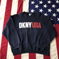 【USED】DKNY JEANS USA sweat ネイビー