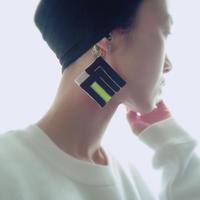 源氏香 刺繍イヤーフック [ 夕霧 ]yukiri
