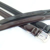 数量限定!超希少 q-HORSE コードバン紳士ベルト 幅30mm ロングステッチタイプ120cm