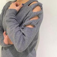 【Risley】Ribon Sleeve Knit(1510167)