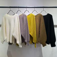 【Risley】 Puff sleeve Knit(1510166)