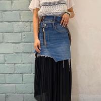 【Risley】 Remake Denim Military Skirt (1370022)