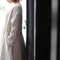 【予約商品】ヘリンボーン織・ヘンプリネンフレアワンピース