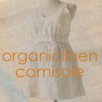 【organiclinen】オーガニックリネン100%ブラキャミソール