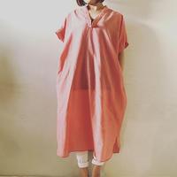 【予約商品】シルクコットンドロップショルダーワンピース Pink