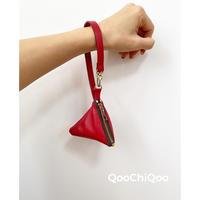 三角ミニポケット(レッド)
