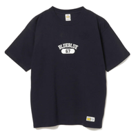 BEAMS PLUS RUSSELL ATHLETIC × BLUE BLUE / バックプリント Tシャツ