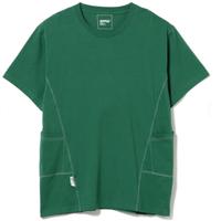 BEAMS AFFIX / パネル Tシャツ Green