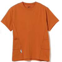 BEAMS AFFIX / パネル Tシャツ Orange