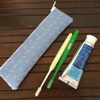 ロング歯ブラシポーチ フラット 水色(一部サイズ変更可能)
