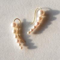 Eclipse Earhook in akoya pearl